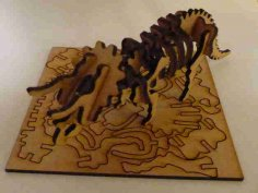 Lasercut Triceratops Skeleton Puzzle DXF File