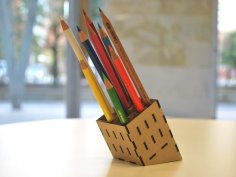 Mdf Pencil Stand Laser Cut PDF File