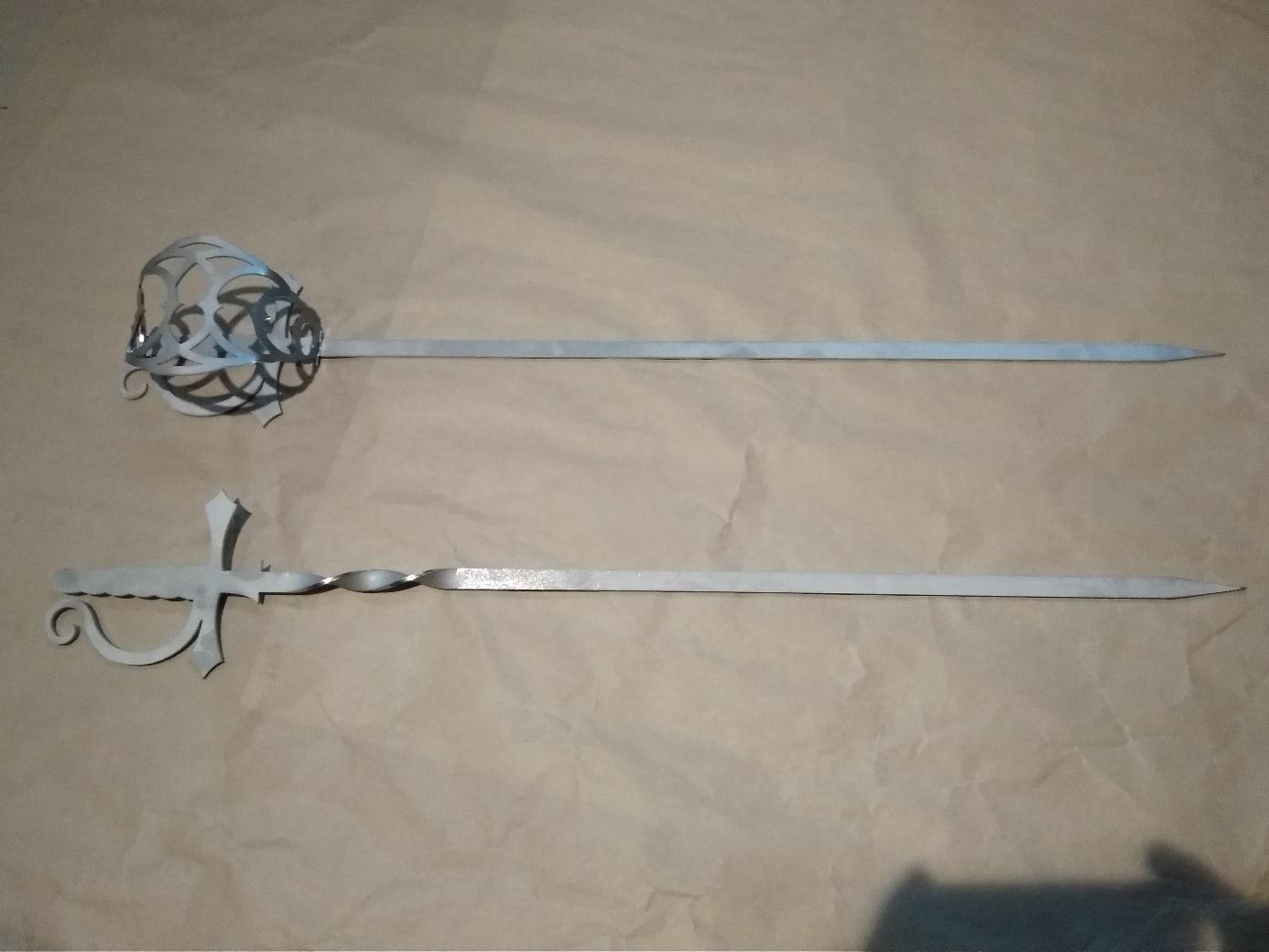 Laser Cut Sabre Skewer Sword DXF File