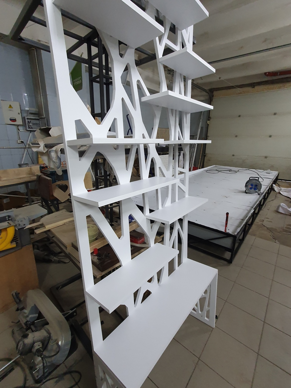 Laser Cut Partition Shelf MDF 16mm Free Vector