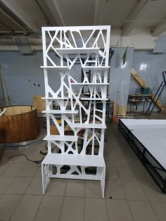 Laser Cut Partition Shelf MDF 16mm Free Vector