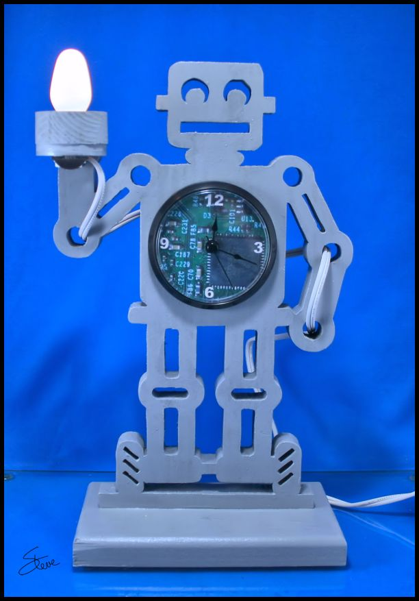 Robot Clock and Night Light PDF File
