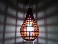 Teardrop Pendant Light Laser Cut DXF File