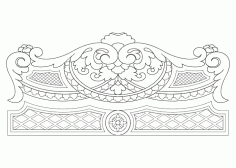 Bed Headboard Design CNC Router Free Vector