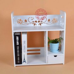 Decorative Bookshelf Bookcase Laser Cut DXF File