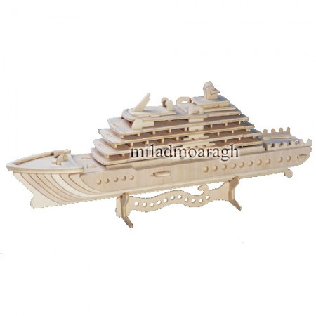 Laser Cut 3D Ship 3mm Ai File
