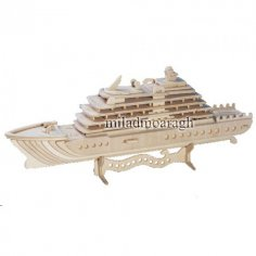 Laser Cut 3D Ship 3mm Free Vector