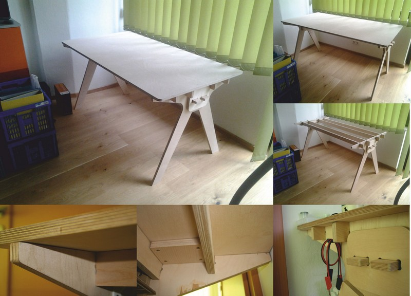 Plywood Computer Table DXF File