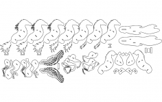 Caballo alado (winged horse) dxf file