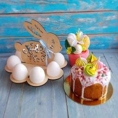 Laser Cut Easter Bunny Egg Holder Template Free Vector