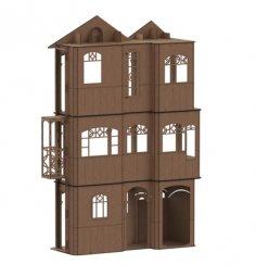Laser Cut American Girl Dollhouse Free Vector