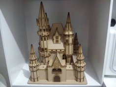 Laser Cut Castle Wooden Decoration DXF File