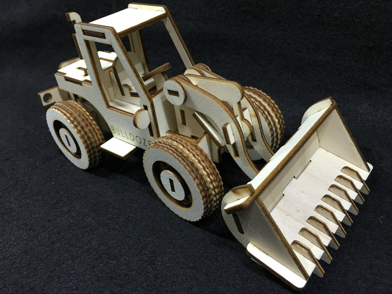 Laser Cut 3D Model Tractor Bulldozer DXF File