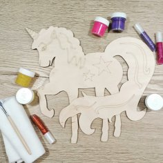 Decorative Unicorn Laser Cut Engraved Template Free Vector