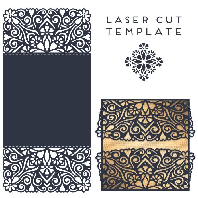 Laser Cut Invitation Card Design Template Free Vector