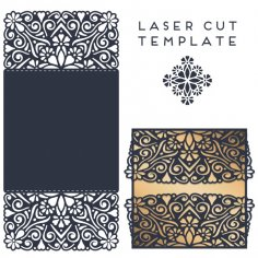 Laser Cut Invitation Card Design Template Free Vector