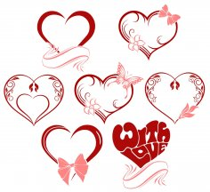 Valentine Day Hearts Vectors SVG File