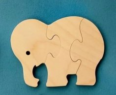Elephant Jigsaw Puzzle CNC Laser Cut Plans DWG File