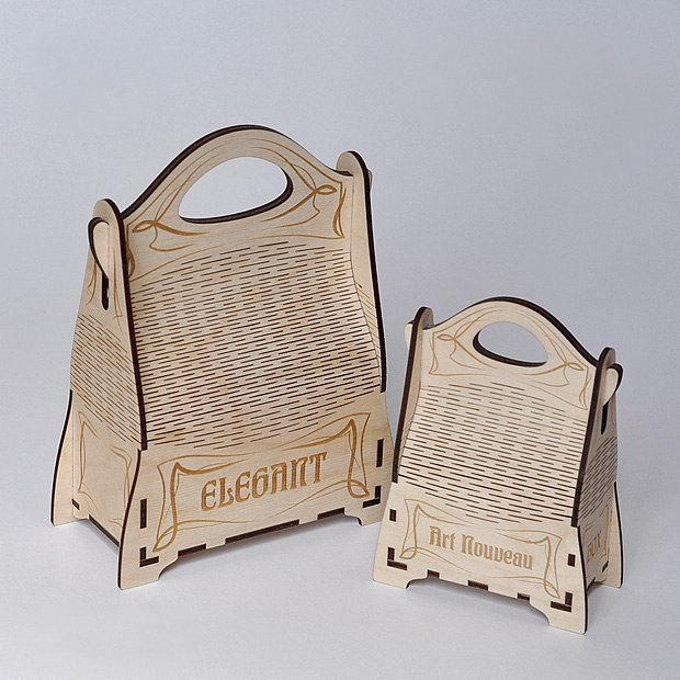 Laser Cut Elegant Gift Box Plywood 3mm Free Vector