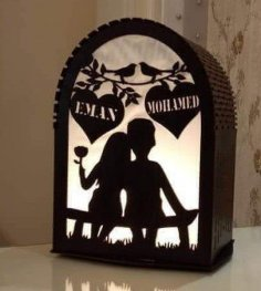 Laser Cut Light Box Free Vector