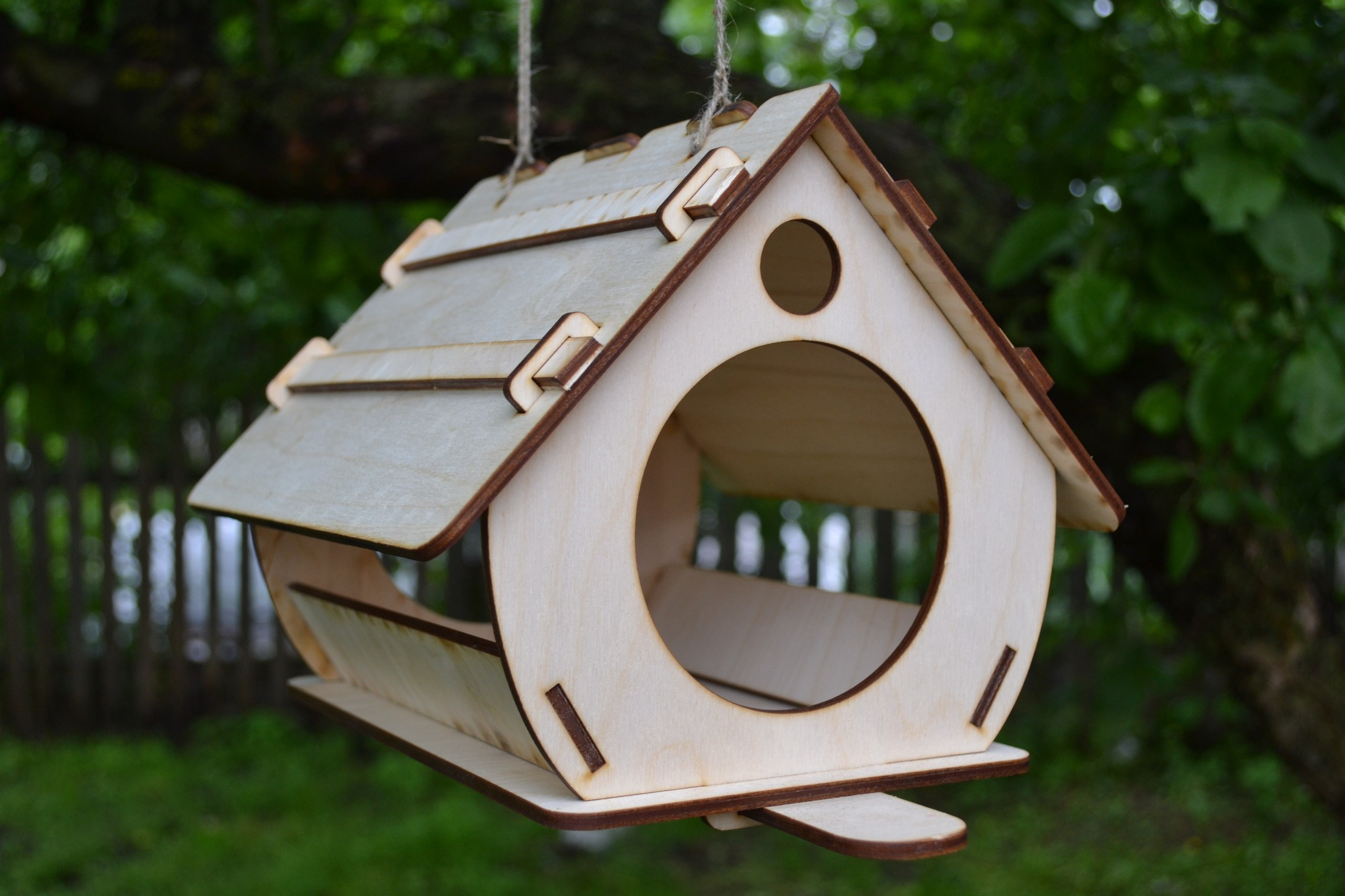 Laser Cut Birdhouse Free Vector