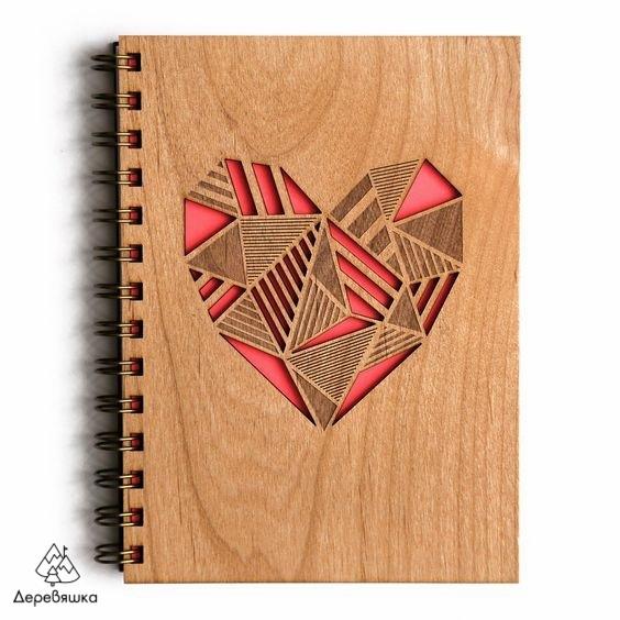 Laser Cut Notebook Heart Template Free Vector