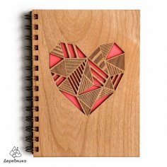 Laser Cut Notebook Heart Template Free Vector