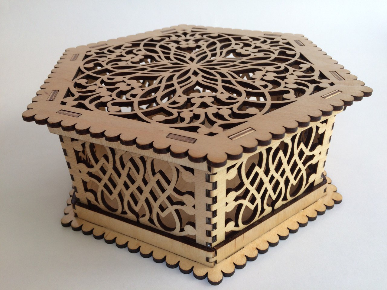 Laser Cut Wooden Jewelry Box Free Vector