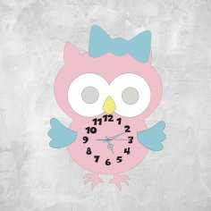 Laser Cut Wall Clock Owl Free Vector