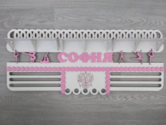 Laser Cut Medal Hanger Shelf 3 2 Mm Free Vector