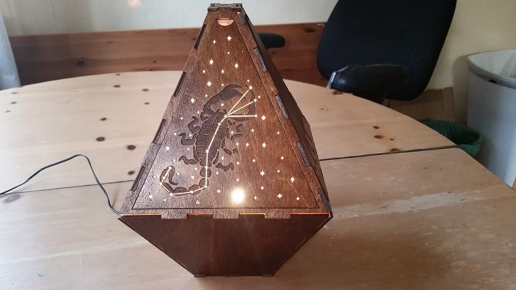 Laser Cut Constellation Lamp 3mm Birch Plywood DXF File