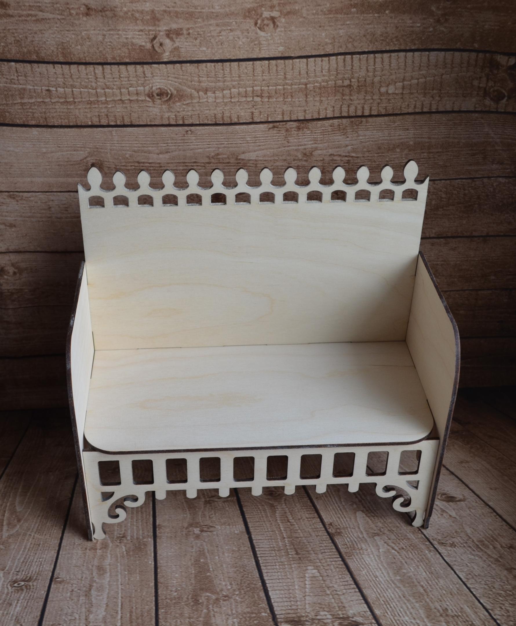Laser Cut Wooden Sofa Furniture Free Vector