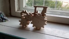 Laser Cut Wooden Toy Tractor PDF File