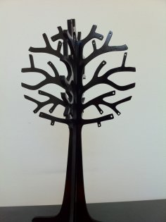 Laser Cut Jewelry Tree 3mm DXF File
