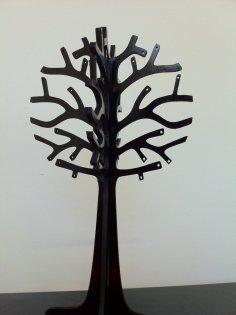 Laser Cut Jewelry Tree 3mm DXF File