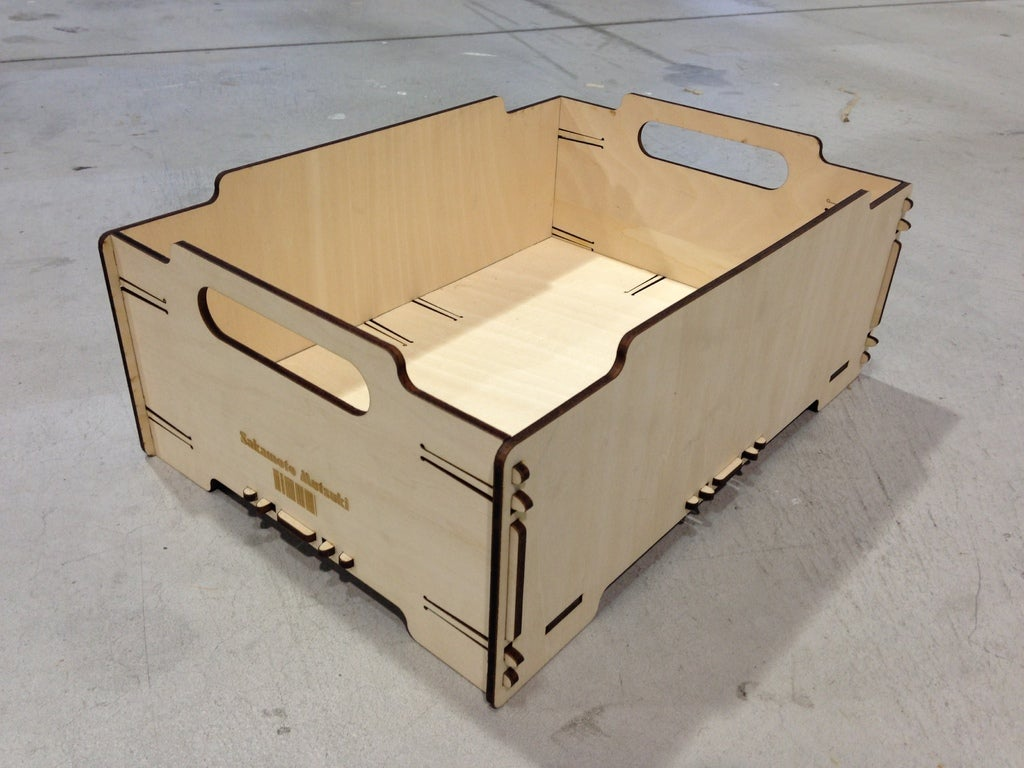 Laser Cut Stackable Box Mini 4mm Plywood Free Vector