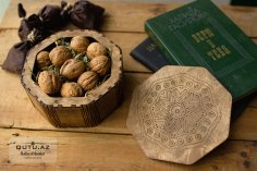 Laser Cut Wood Dry Fruit Gift Box Free Vector