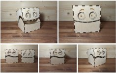 Laser Cut Monster Boxes 3mm Free Vector