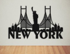 Laser Cut New York Wall Art DXF File