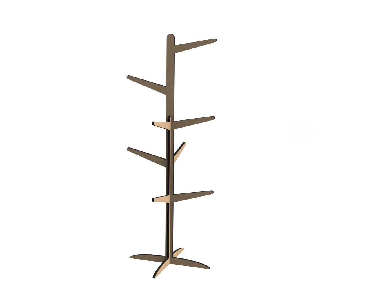Laser Cut Wooden Clothes Stand Coat Rack Free Vector