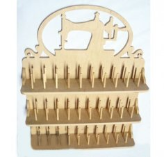 Laser Cut DIY Thread Spool Holder Free Vector