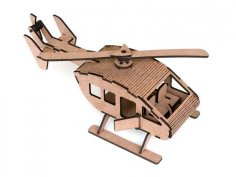 Laser Cut Helicopter M1 4,2mm MDF DXF File