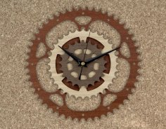 Laser Cut Gear Clock Free Vector