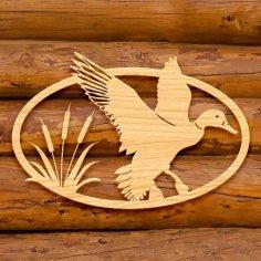Laser Cut Duck Wooden Ornament Wall Decor Template Free Vector