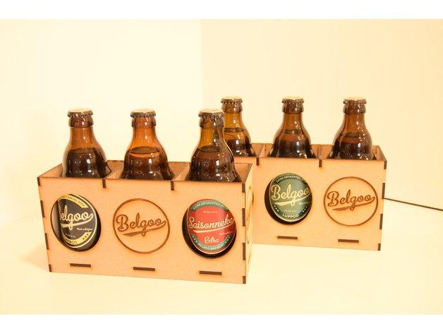 Laser Cut Belgian Beer Bottle Holder 3mm SVG File