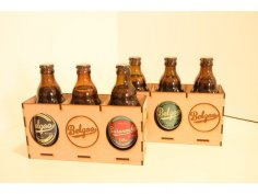 Laser Cut Belgian Beer Bottle Holder 3mm SVG File