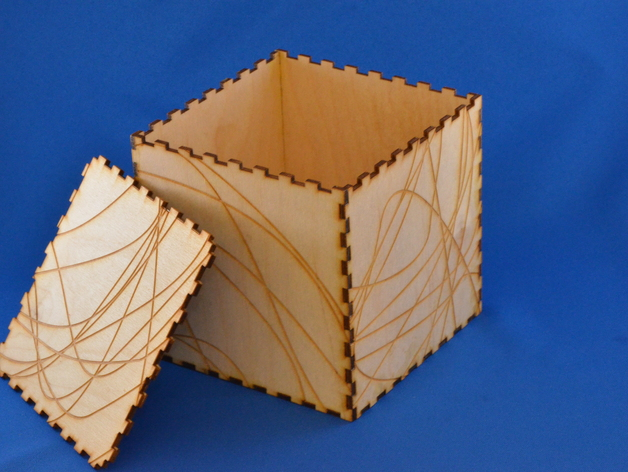 Wood Laser Cut Box Free Vector
