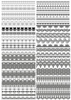 Floral Ornamental Borders Vector Set Free Vector