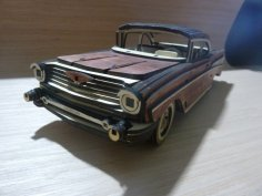 Laser Cutting Chevrolet Bel Air 1957 Free Vector