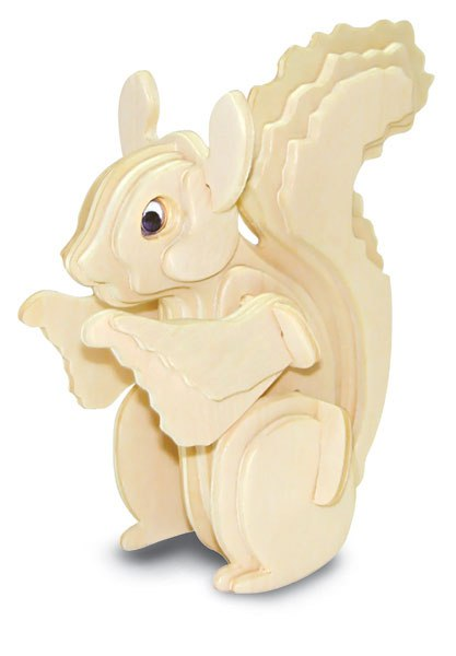 Squirrel 3D Puzzle DXF File